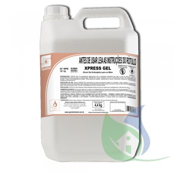 Xpress Gel - Álcool Gel Antisséptico 4,4Kg - Spartan