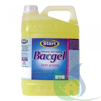 Bac Gel Sabonete Bactericida Sem Aroma Galão 5L - START