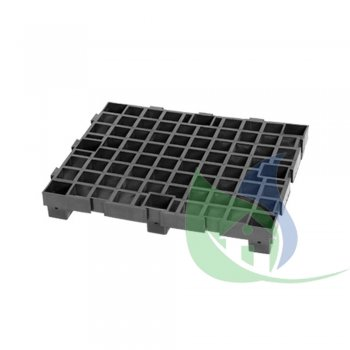 PALLET INDUSTRIAL PRETO 50X60CM - PLASNEW