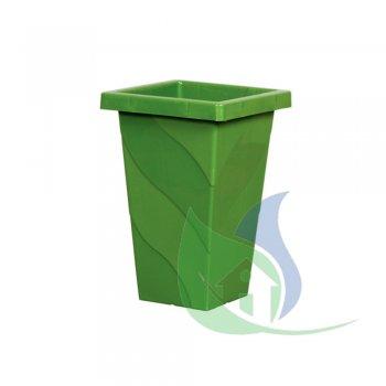 Vaso Quadrado Coluna Grande Verde 28,8L - PLASNEW