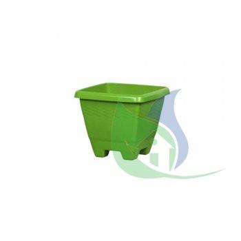 Vaso Quadrado Médio Verde 6,3L - PLASNEW