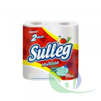 Papel Toalha Multiuso - Folha Dupla 2 Rolos - SULLEG