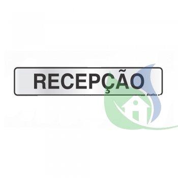 100CK - Placa Alumínio 5X25Cm Recepção - Sinalize