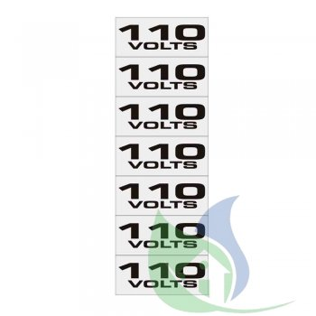 100CO - Placa Alumínio 5X25Cm Etiqueta 110V - Sinalize