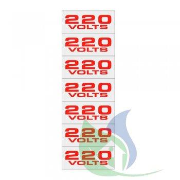 100CP - Placa Alumínio 5X25Cm Etiqueta 220V - Sinalize