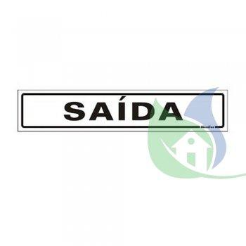 200AE - PLACA EM PVC 5X25CM SAÍDA - SINALIZE