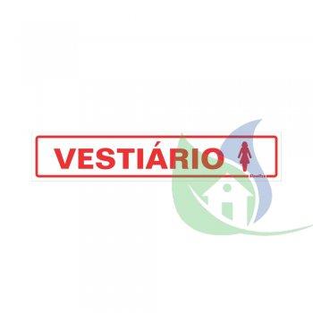 200AR - PLACA EM PVC 5X25CM VESTIÁRIO FEMININO - SINALIZE