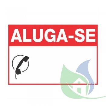 250CM - PLACA EM PVC 20X30CM ALUGA-SE - SINALIZE