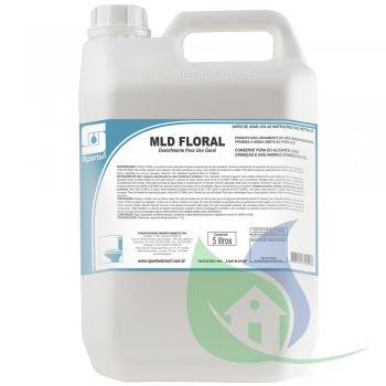MLD FLORAL - Limpador Desinfetante - Galão 5L - SPARTAN