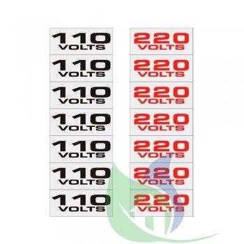 900AL - PLACA EM ALUMÍNIO 12X12CM ETIQUETAS 110V/220V - SINALIZE