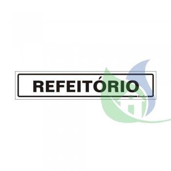 200BH - PLACA EM PVC 5X25CM REFEITÓRIO - SINALIZE