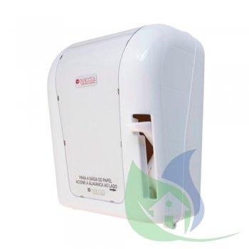 Dispenser Papel Toalha Bobina Alavanca Branco - EXACCTA
