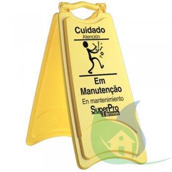 Placa Sinalização Plástica - Em Manutenção - SUPER PRO BETTANIN
