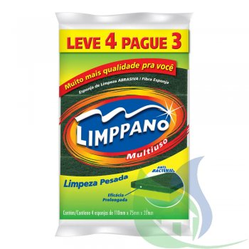 ESPONJA MULTIUSO LEVE 4 PAGUE 3 - LIMPPANO