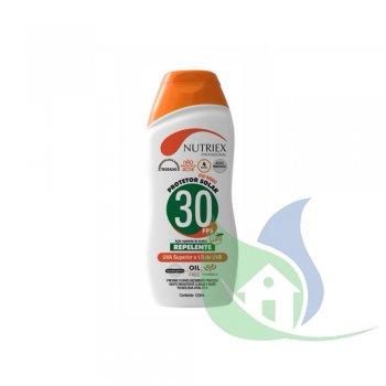 Protetor Solar 30 FPS Com Repelente e 1/3 Uva 120ml - NUTRIEX
