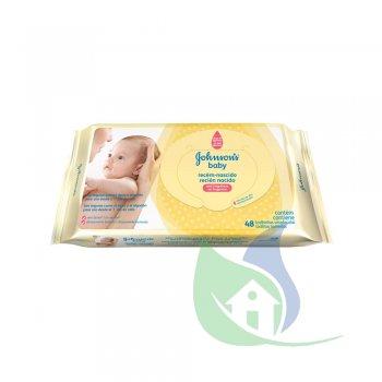 Lenços Umedecidos Baby Recém Nascidos pacote Com 48 Un - JOHNSON & JOHNSON