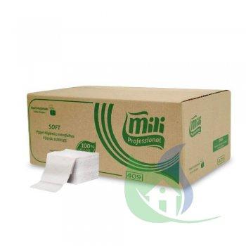 Papel Higiênico Interfolhado Cai Cai Folhas Simples 10X20cm Caixa Com 10000 Folhas - MILI
