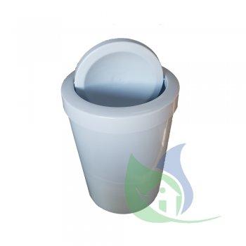 Cesto De Lixo 15L Com Tampa Flip Branco - LP